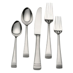 Lenox Federal Platinum Frosted 18/10 Stainless Steel 5 Piece Place Setting