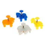 Silikomart Silicone Mini Animals Cookie Cutter, Set of 4