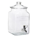 Anchor Hocking I.J. Collins Glass 1.5 Gallon Beverage Dispenser with Spigot