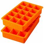 Tovolo Perfect Cube Orange Peel Silicone Ice Tray, Set of 2