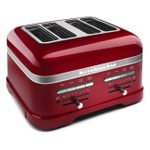 KitchenAid KMT4203CA Pro Line Series Candy Apple Red 4-Slice Automatic Toaster