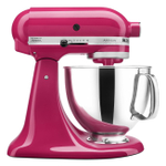 KitchenAid KSM150PSCB Artisan Series Cranberry 5 Quart Tilt-Head Stand Mixer with Pouring Shield