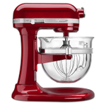 KitchenAid KSM6521XCA Professional 6500 Design Series Candy Apple Red Bowl-Lift Stand Mixer with 6 Quart Glass Bowl