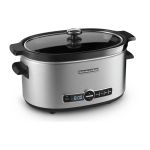 KitchenAid KSC6223SS Stainless Steel Finished 6 Quart Slow Cooker with Glass Lid