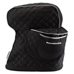 KitchenAid KSMCT1OB Onyx Black 100% Cotton Fitted Stand Mixer Cover