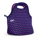 Built NY Gourmet Getaway Mini Dot Navy Lunch Tote