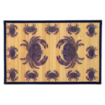 Sunday Morning Home Veranda Blue Crabs Bamboo 12 x 18 Inch Placemat, Set of 6