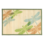 Sunday Morning Home Veranda Dragonfly Trio Bamboo 12 x 18 Inch Placemat, Set of 6
