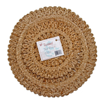 Tookies 2 Piece Organic Jute Handmade Circular Sun Trivets