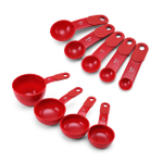 KitchenAid 9 Piece Red Measuring Cup and Spoon Set
