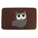 Kikkerland Brown and Gray Owl 30 x 18 Inch Doormat