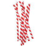 Kikkerland 36 Count XL Red Stripe Paper Straws