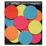 Three By Three Multi-Color Jumbo Dot Magnets, 12 Pack