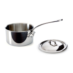 Mauviel M'cook Stainless Steel 1.9 Quart Covered Saucepan