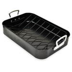 Ecolution Kitchen Extras 17 x 12 Inch Turkey Roaster and Rack