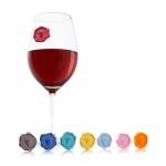 Vacu Vin Classic Grape Silicone Wine Glass Marker, Set of 8