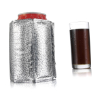 Vacu Vin Silver Active Can Cooler Sleeve