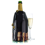 Vacu Vin Black Bottles Active Champagne Cooler Sleeve