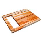 Proteak Edge Grain Teak 15.5 x 12 Inch Chop and Slide Cutting Board