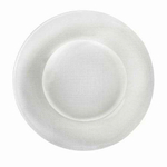 Bormioli Rocco Inca White 12.25 Inch Glass Charger Plate