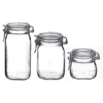 Bormioli Rocco Fido 3 Piece Glass Jar Set
