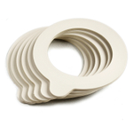 Bormioli Rocco Fido Jar White Replacement Gaskets, Set of 6