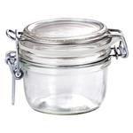 Bormioli Rocco Fido 4.25 Ounce Round Glass Jar With Lid