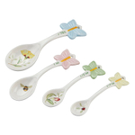 Lenox Butterfly Meadow Figural Porcelain 4 Piece Measuring Spoon Set