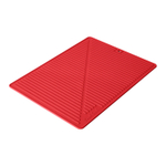 Final Touch Red Silicone Glass Drying Mat