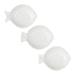 Canvas Home Isola White 3 Piece Fish Shaped Serving Dish Set