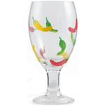 Chili Pepper All Purpose Glass Goblet, Set of 4