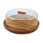 Swissmar Acacia Round Serving Board with Dome