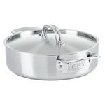 Viking Professional 5 Ply Stainless Steel Satin Finish 3.4 Quart Casserole Pan