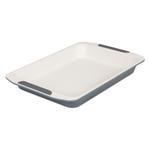 Viking Cream and Gray Coated Nonstick Ceramic 14 Inch Roast Pan