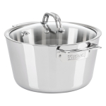 Viking Contemporary Mirror Finish Stainless Steel 5.2 Quart Covered Dutch Oven