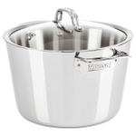 Viking Contemporary 3 Ply Mirror Finish Stainless Steel 8 Quart Covered Stockpot