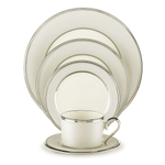Lenox Ivory Frost Fine China 5 Piece Dinnerware Place Setting