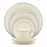 Lenox Solitaire Fine China 5 Piece Dinnerware Place Setting