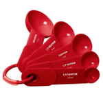 Kitchenaid Cooks Series 5 Piece Red Measuring Spoon Set