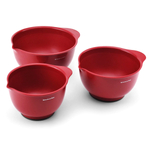 Kitchenaid Classic 3 Piece Red Mixing Bowl Set