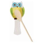 Boston Warehouse Floral Hand Painted Owl Earthenware Spoon Rest
