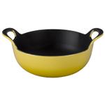 Le Creuset Soleil Yellow Enameled Cast Iron 1.75 Quart Balti Dish