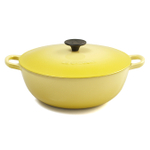 Le Creuset Soleil Yellow Enameled Cast Iron 4.25 Quart Soup Pot