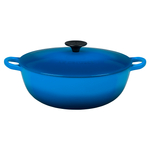 Le Creuset Marseille Blue Enameled Cast Iron 4.25 Quart Soup Pot