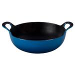Le Creuset Marseille Blue Enameled Cast Iron 3 Quart Balti Dish