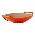 Le Creuset Flame Stoneware 28 Ounce Wok Dish
