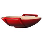 Le Creuset Cherry Stoneware 28 Ounce Wok Dish