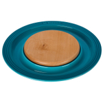 Le Creuset Caribbean Stoneware Cheese Server with Beechwood Cutting Board