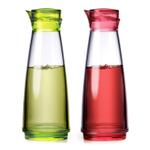 Prodyne Feliz 2 Piece Acrylic 9 Ounce Oil and Vinegar Bottle Set