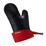 KitchenGrips Black and Red FLXaPrene Small Chef's Mitt